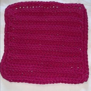 Hot Pink Crocheted All Purpose 100% Cotton Cloth